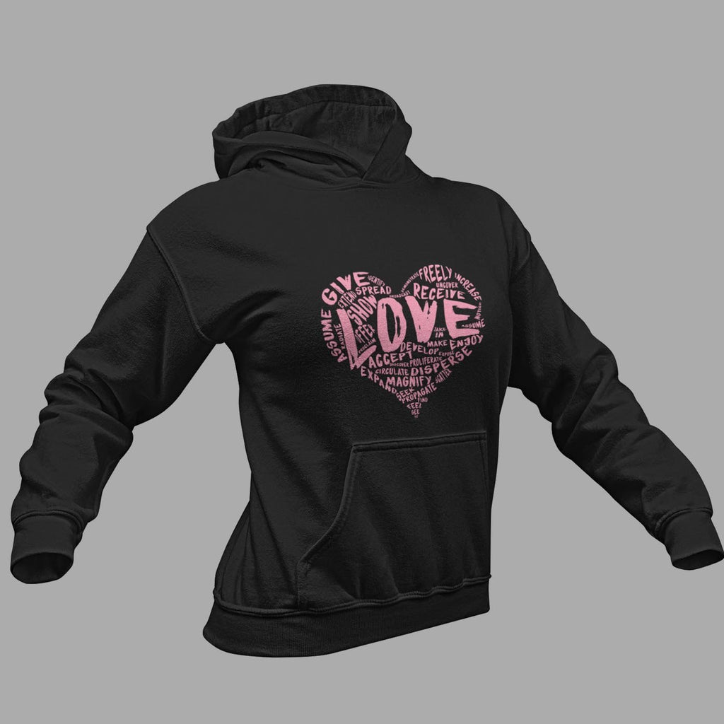 The Official LOVE Premium Hooded Sweatshirt (Hoodie) - (Pink Version) - Dan Pearce Creative Shop