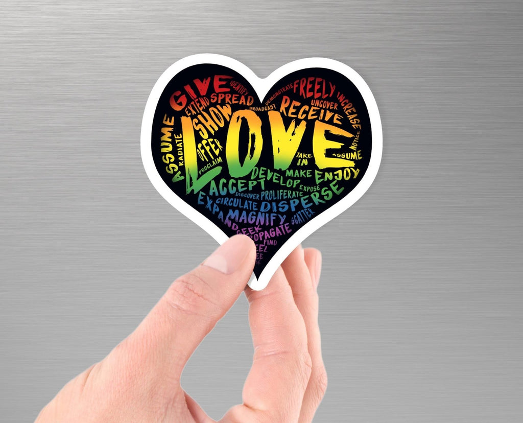 "The Official LOVE Sticker - 3.5"" Vinyl Sticker - Dan Pearce Creative Shop"