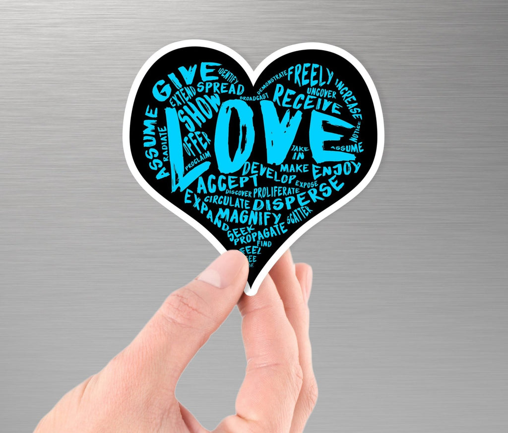 The Official LOVE Sticker (Blue) - Vinyl Sticker PRE-ORDER (various sizes) - Dan Pearce Creative Shop