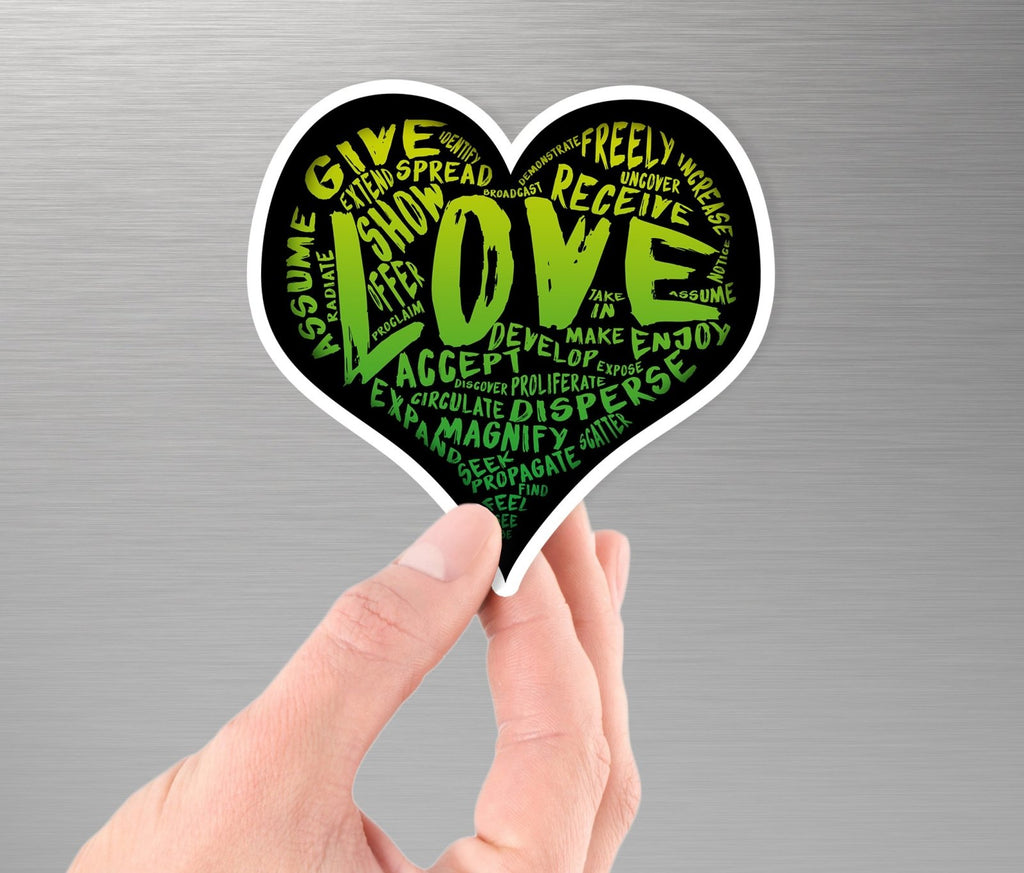 The Official LOVE Sticker (green) - Vinyl Sticker PRE-ORDER (various sizes) - Dan Pearce Creative Shop