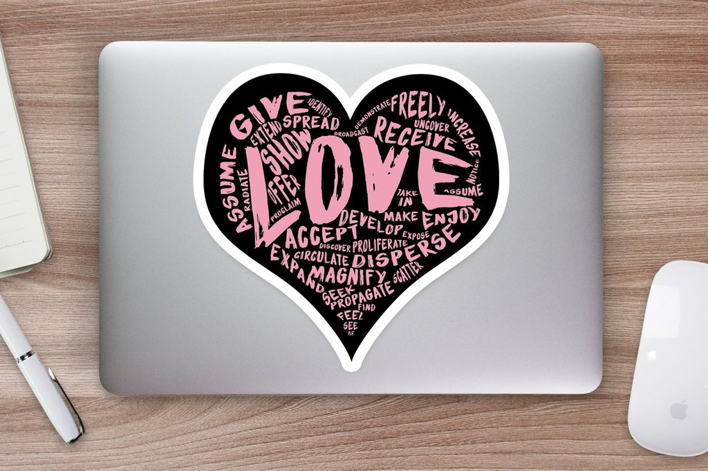 The Official LOVE Sticker (pink) - Vinyl Sticker (various sizes) - Dan Pearce Creative Shop