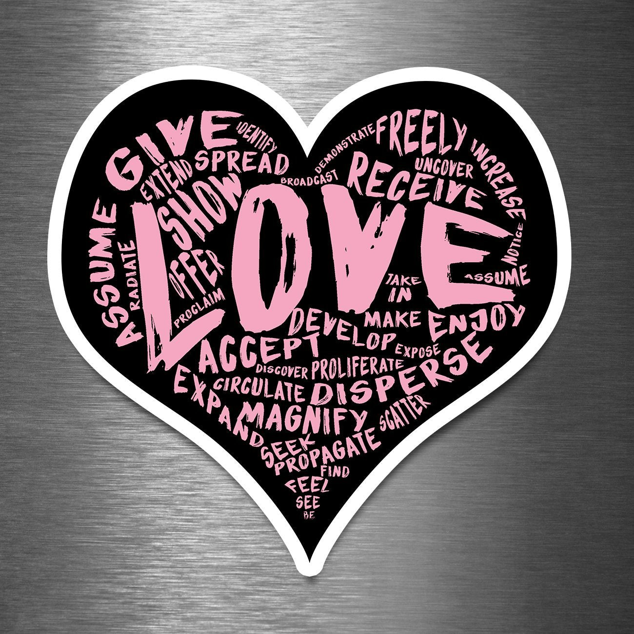 The Official LOVE Sticker - Vinyl Sticker (5 sizes available)