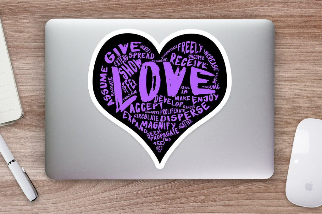 The Official LOVE Sticker (purple) - Vinyl Sticker PRE-ORDER (various sizes) - Dan Pearce Creative Shop