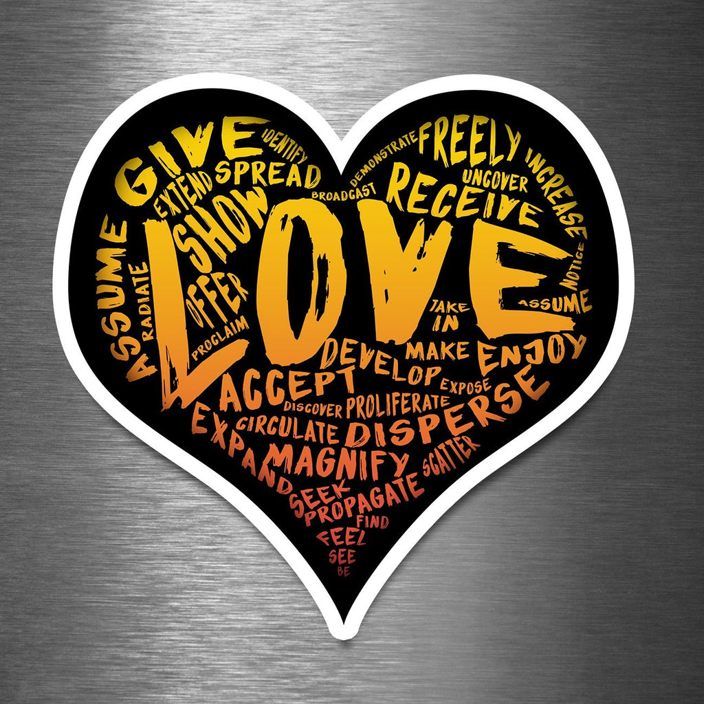 "The Official X-Large LOVE Sticker - 7.25"" Premium Vinyl Sticker - Dan Pearce Creative Shop"