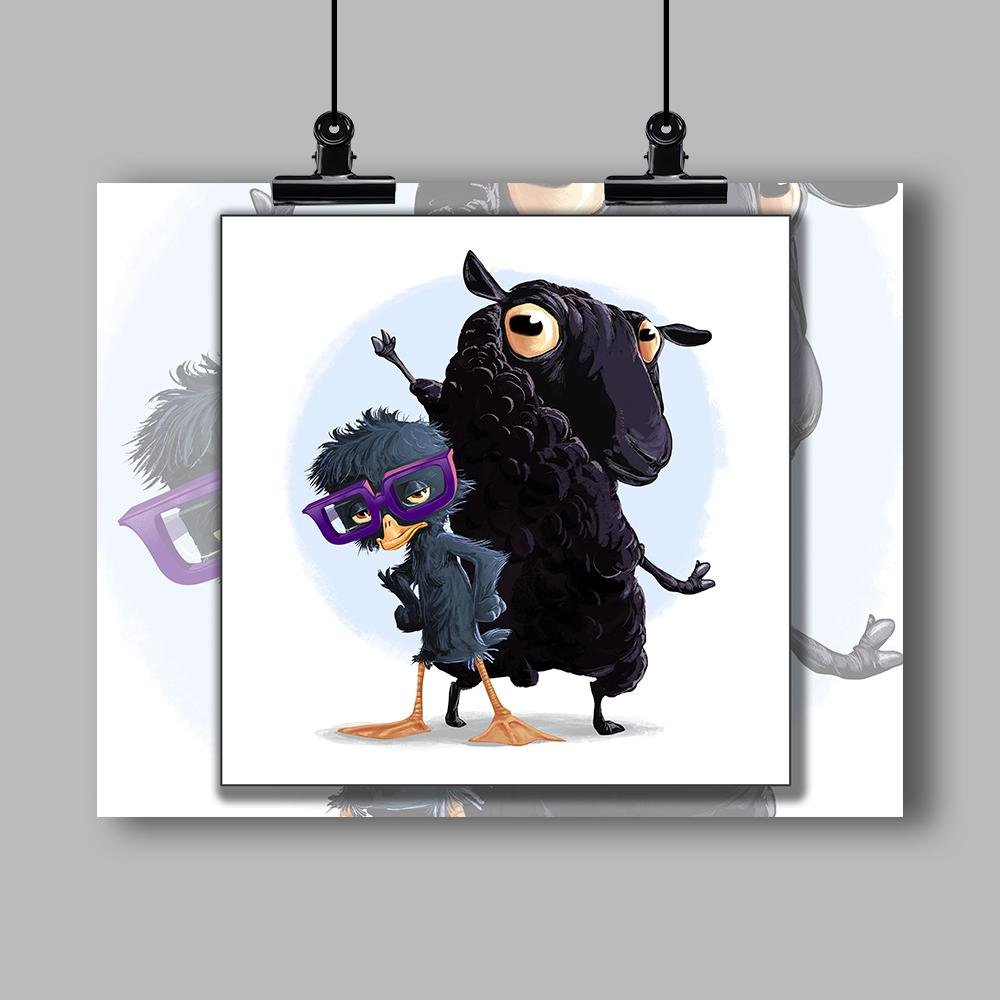 """The Ugly Duckling and the Black Sheep"" Specialty Art Print by Dan Pearce - Dan Pearce Creative Shop"