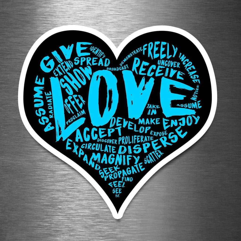 "The X-Large LOVE Sticker - 12"" Premium Vinyl Sticker (7 Total Styles) - Dan Pearce Creative Shop"
