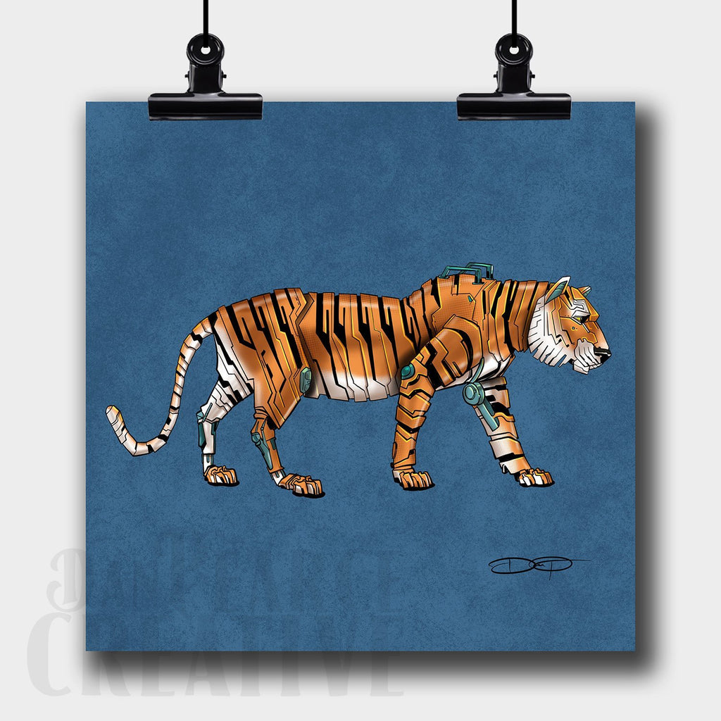 Tiger Robot Fine Art Print Created by Dan Pearce - Dan Pearce Creative Shop