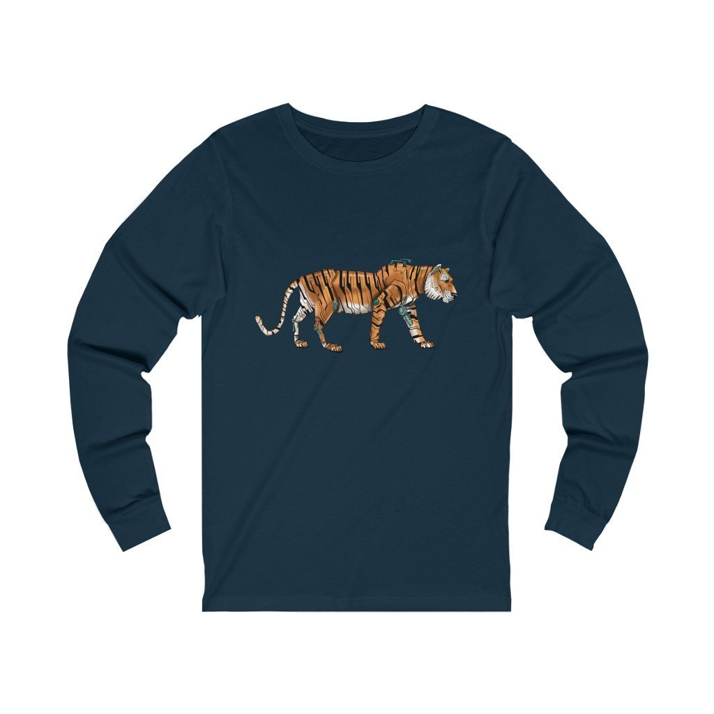 """Tiger Robot"" Long-Sleeve Premium T-Shirt - Dan Pearce Creative Shop"