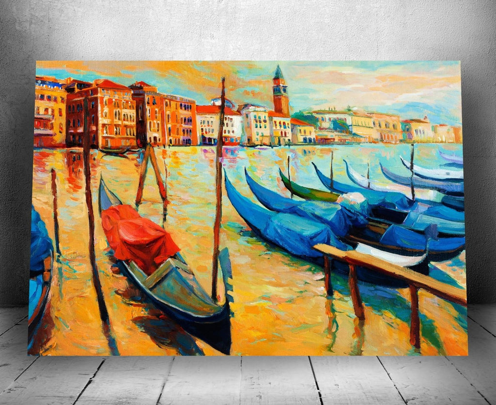 """Venice Italy"" Canvas Oil Painting Wall Hanging 16"" x 24"" - Dan Pearce Creative Shop"
