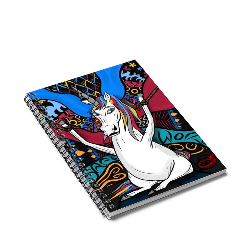 """Where Did the Magic Go"" Unicorn Pop Art Designer Notebook - Dan Pearce Creative Shop"