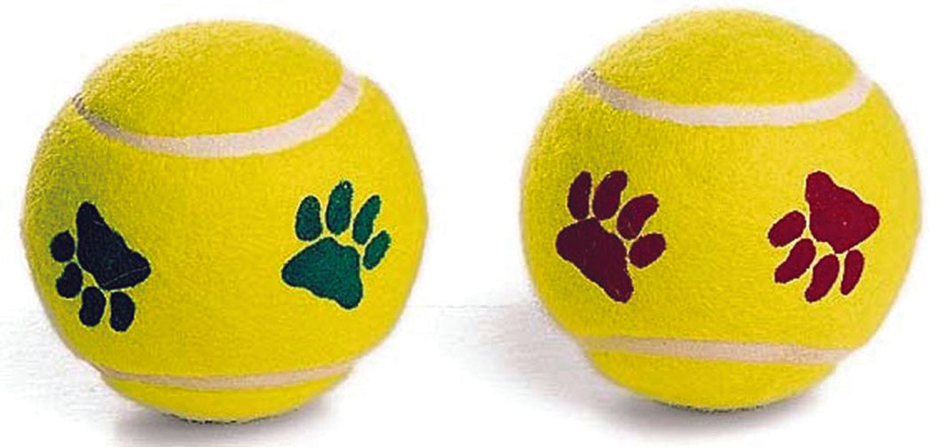 PAWPRINT TENNIS BALL DOG TOY  (AE)