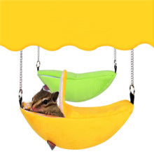 Banana Shape Hanging Bed For Hamster  Small Cotton Soft Sponge    (AE)