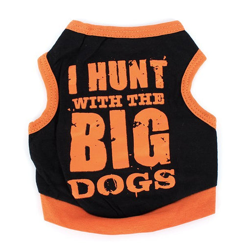 Small Dog Printed Vest T-shirt Letter Pattern Pet Clothing Puppy Shirt Soft Tops  (AE)