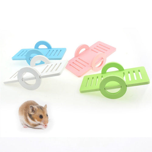 Candy Color Wooden Hamster Seesaw  Playground Toys  3Pcs/Set    (AE)