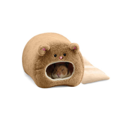 Plush Hammock for Rat Hamster Warm Hanging Bed BEAR Toy House  (AE)