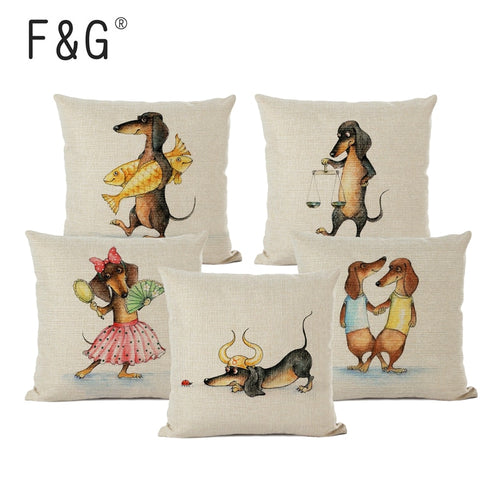 12 Zodiac Dachshund Dog Cushion Cover