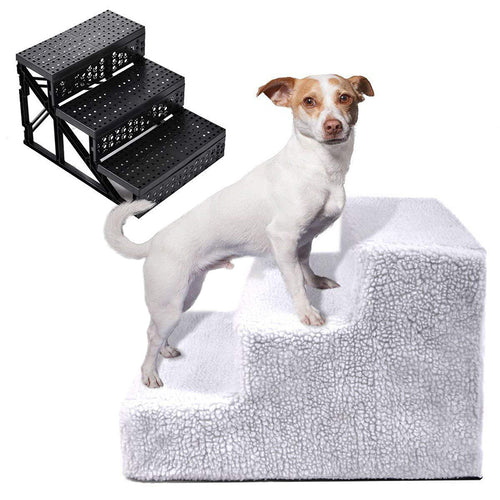Dog Stairs 3 Steps Ladder Small Dog House for Puppy Cat Pet Stairs Non-slip Removable Puppy Bed Ramp Ladder Pets Supplies Hot