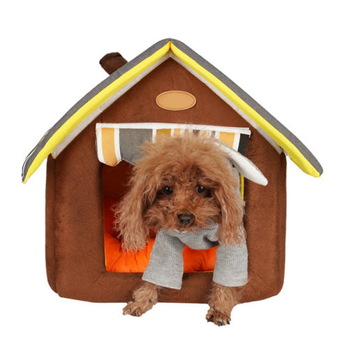 Pet Detachable Washable House All-seasons Velvet Kennel Warm Comfortable Kennel For Small Dogs