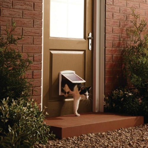 Plastic Lockable Pet Cat Small Dog Flap Safe Door