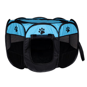 Foldable Pet Tent Portable Dog House Cats Dogs Cage Outdoor Playpen Easy Operation Octagonal Fence Indoor Puppy Kennel