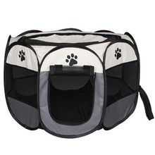 Load image into Gallery viewer, Foldable Pet Tent Portable Dog House Cats Dogs Cage Outdoor Playpen Easy Operation Octagonal Fence Indoor Puppy Kennel