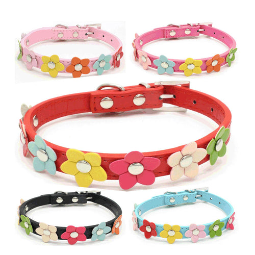 3D Flowers Dog small Dogs Cat Princess collars & Leashes    (AE)