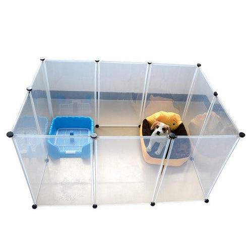 Pet dogs House Plastic Transparent Dog Fence  (AE)