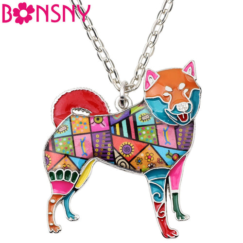Alloy Shiba Inu Dog Necklace Pendants