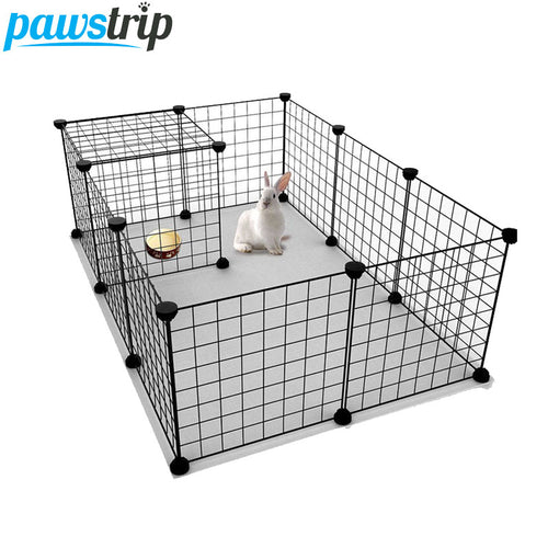 Pet Fence  Iron Net Dog Cage Kennel Free Combination  (AE)