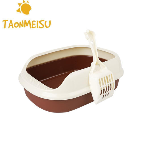Cat Toilet Trainer Crack-proof Bottom Polyester Cat Litter Box (AE)