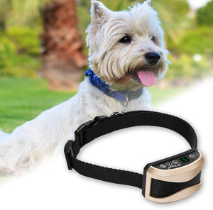 Pet Dog Waterproof Rechargeable Anti Bark Collar (AE)
