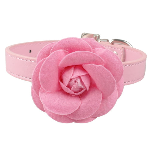Adjustable Puppy Dog Collar PU Leather   (AE)