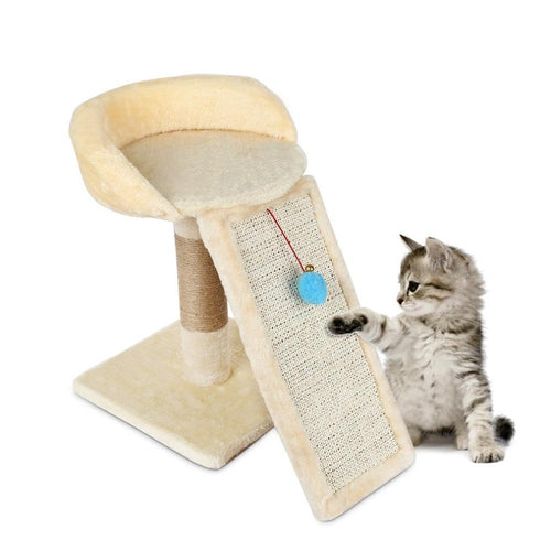 Pet Cat Tree Climbing Frame Toy with Ball Shape Bell