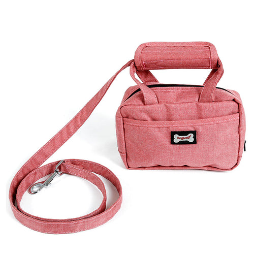Dog Leash with Treat Training Pouch Dog Poop Bag Holder Leash Attachment  (AE)