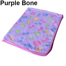 Load image into Gallery viewer, Pet Bone Paw Fleece Mat Soft Blanket (AE)