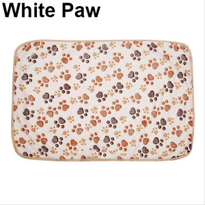 Pet Bone Paw Fleece Mat Soft Blanket (AE)