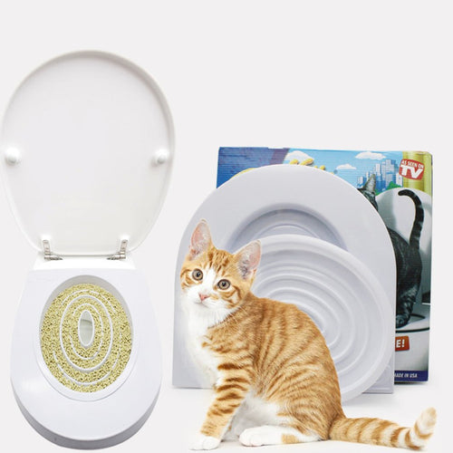 Pet Cat Toilet Training System Step By Step Training Toilet Tray   (AE)
