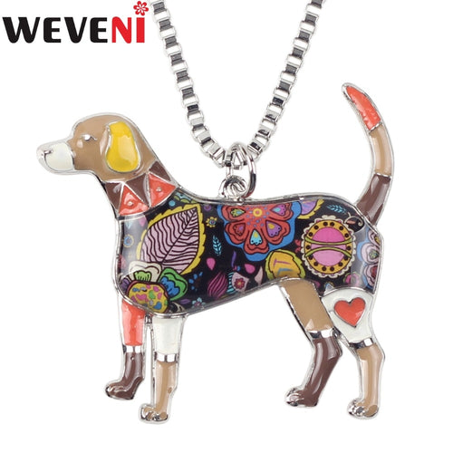 Enamel Alloy Beagle Dog Necklace