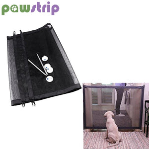 pawstrip Portable Folding Dog Mesh Gate Pet Isolation Fence  (AE)