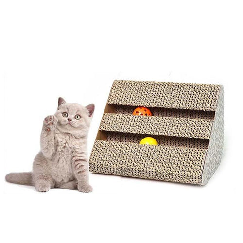 Cat Favorite Durable Scratching Post Dual Use Scratch Box