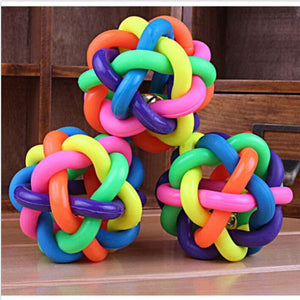 Pet Puppy Dogs Rubber Ropes Chews Toy Ball Play Braided Bone Knot Sport Gift 1pc  (AE)