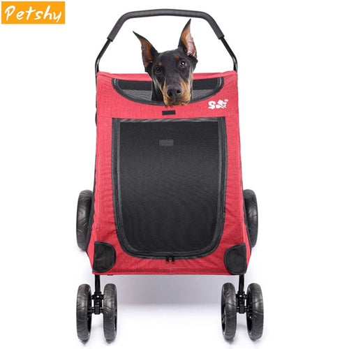 Large Dog Stroller Folding Dog Carrier Pet Travelling Carry Cart   (AE)