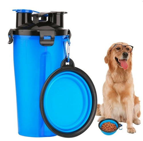 Dog Drinking Water Bottle with Bowl  (AE)
