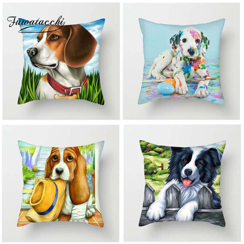 Cute Cartoon Style Cushion Cover