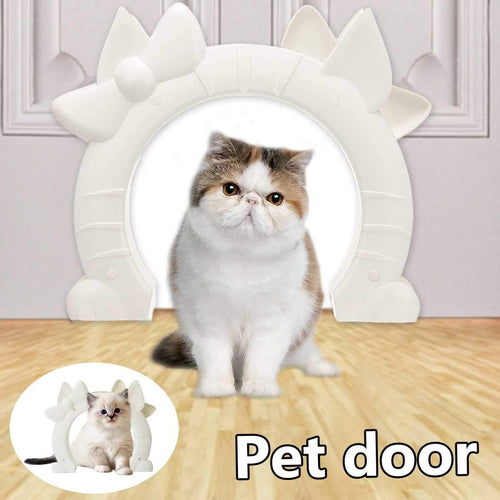 Plastic 4 Way Cat Dog Small Pet Locking Door Flap