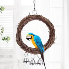 Bird Parrot Hanging Swing Rings Balls With Bells Chew Toy  (AE)