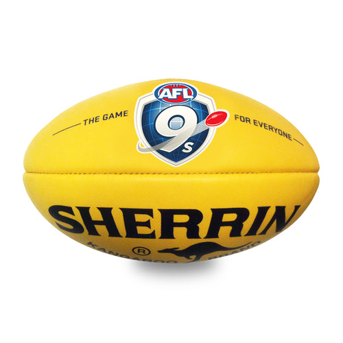 AFL 9s Synthetic Sherrin Football Size 3