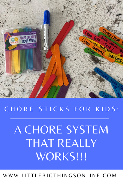 Chore Sticks for Kids