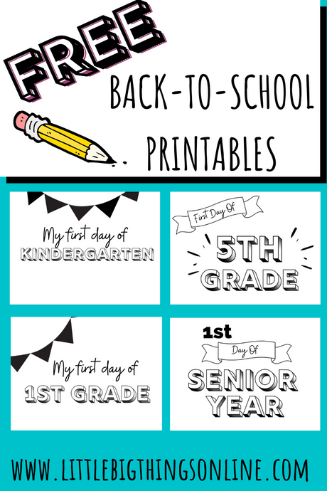 Free Back-to-School Printables