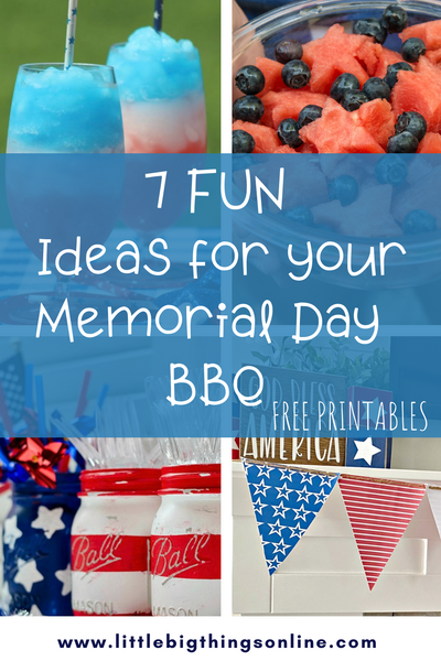 7 Fun Ideas for your Memorial Day BBQ
